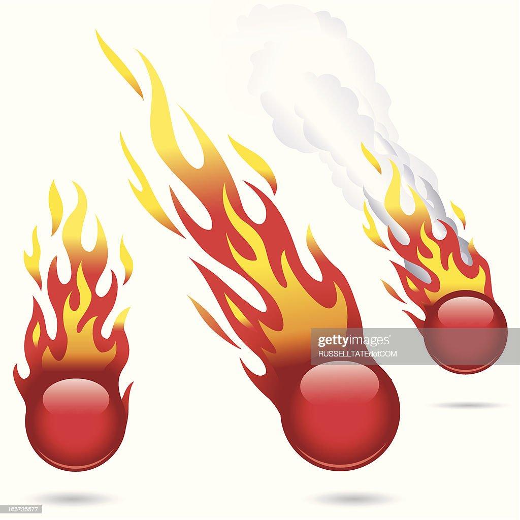 Glossy Red Fireballs