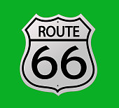 Glossy route sixty six icon
