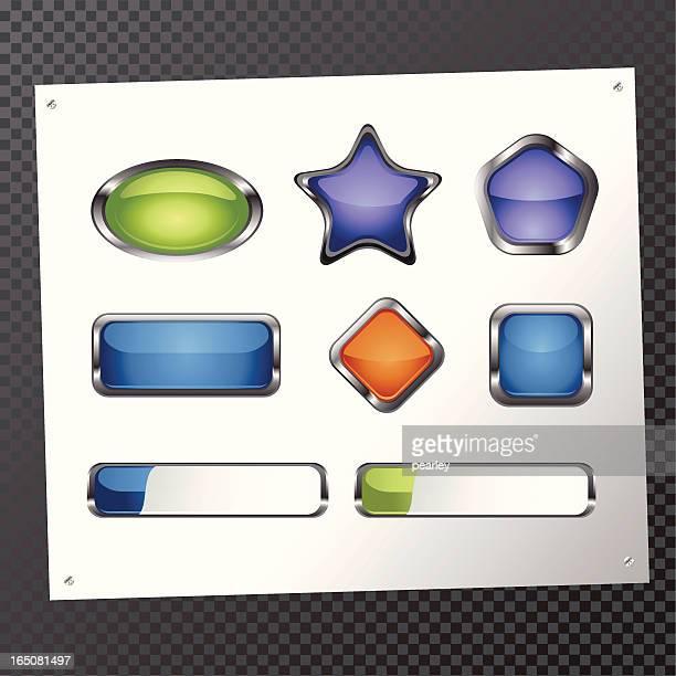 光沢のある形 - ウェブ2.0点のイラスト素材/クリップアート素材/マンガ素材/アイコン素材