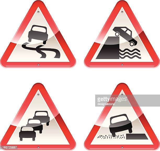 Glossy Signs: Caution Cars