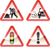 Glossy Signs: Caution Road Works