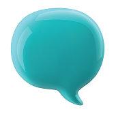 glossy speech bubble