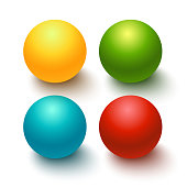 Glossy spheres, buttons, set