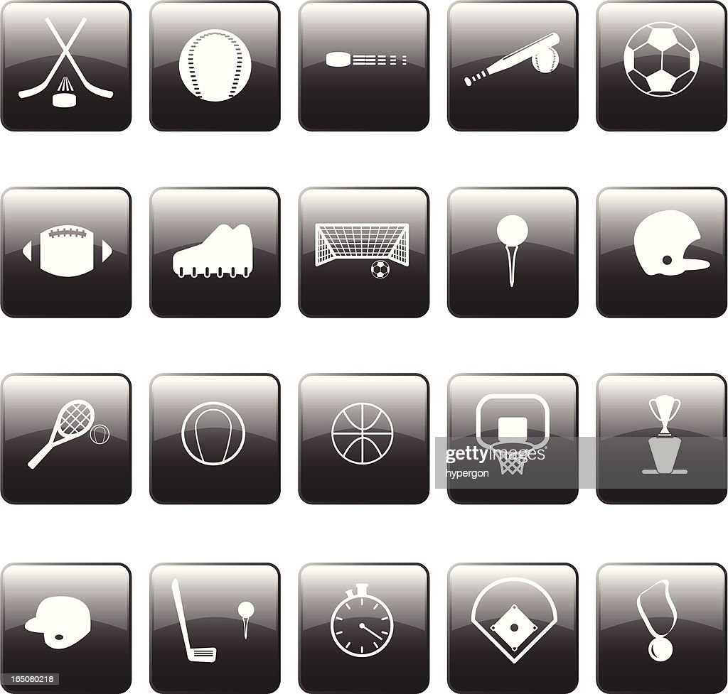Glossy Sports Icons
