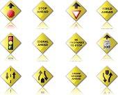 Glossy Traffic Control Road Signs