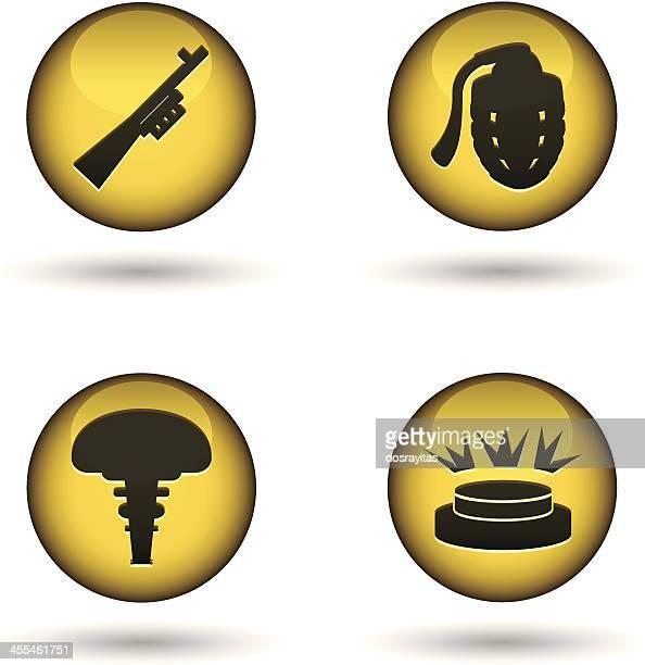 光沢のある警告ボール - 地雷点のイラスト素材/クリップアート素材/マンガ素材/アイコン素材