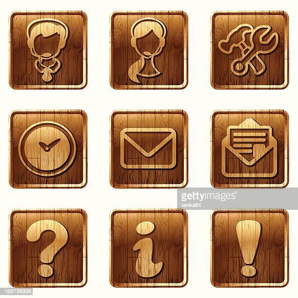 Glänzendes Holz Symbole vol 09