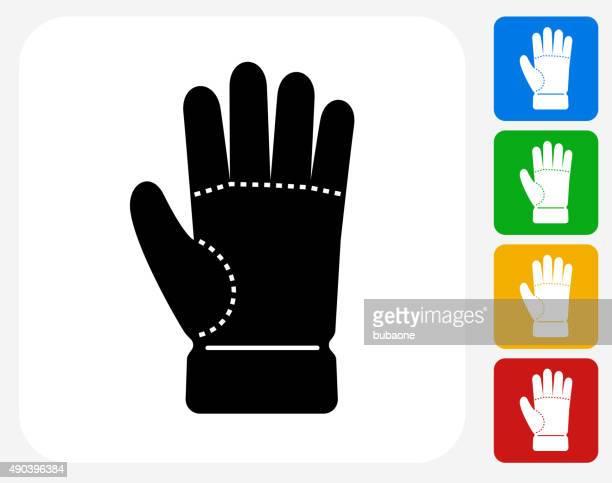 stockillustraties, clipart, cartoons en iconen met glove icon flat graphic design - handschoen