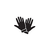 Glove Icon Symbol. Premium Quality Isolated Mitten Element In Trendy Style. Vector