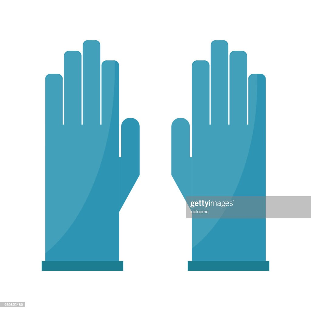 Gloves cartoon vector illustration isolated on white.