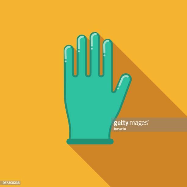 フラットなデザインの罪・罰アイコン手袋 - 手術用グローブ点のイラスト素材/クリップアート素材/マンガ素材/アイコン素材