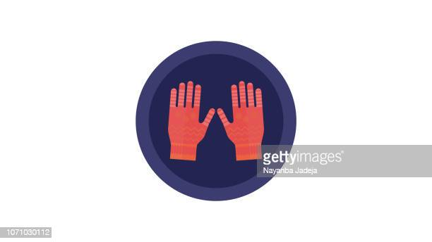 gloves vector icon for gardening - gardening glove stock illustrations, clip art, cartoons, & icons