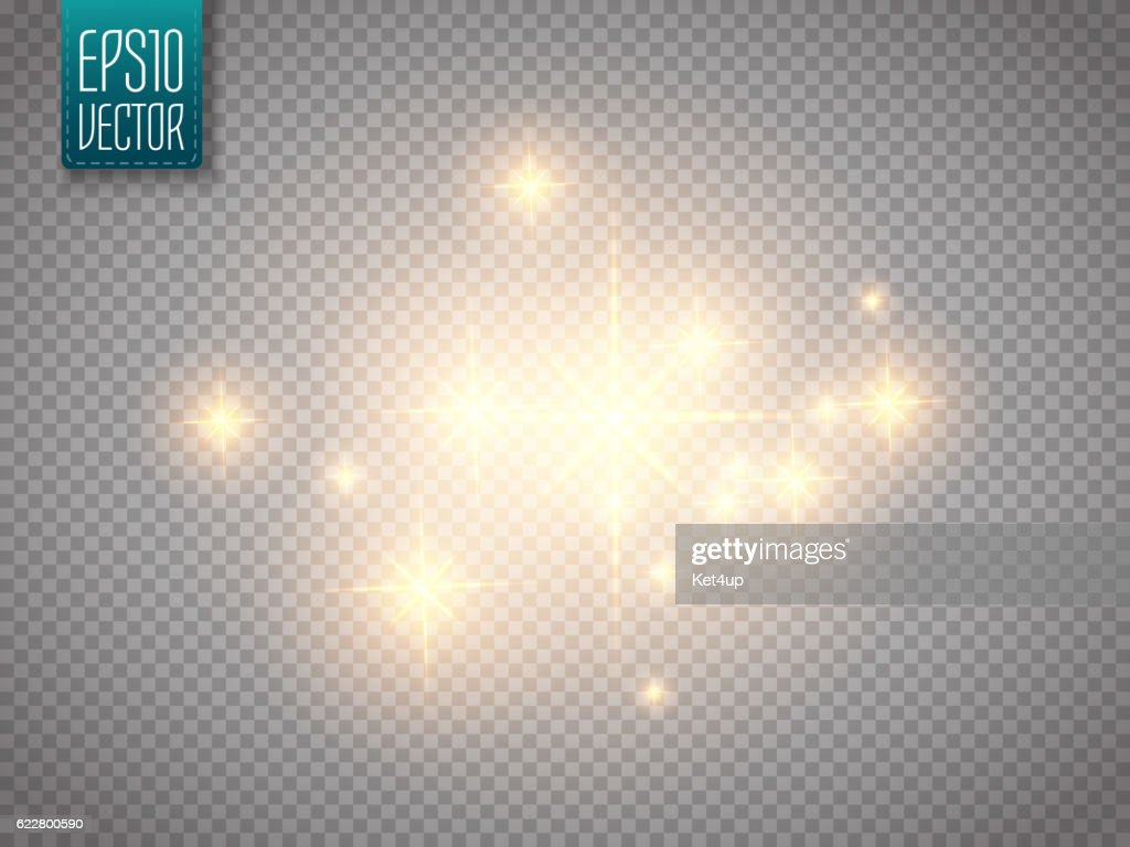 Glow light effect. Vector Christmas flash Concept.