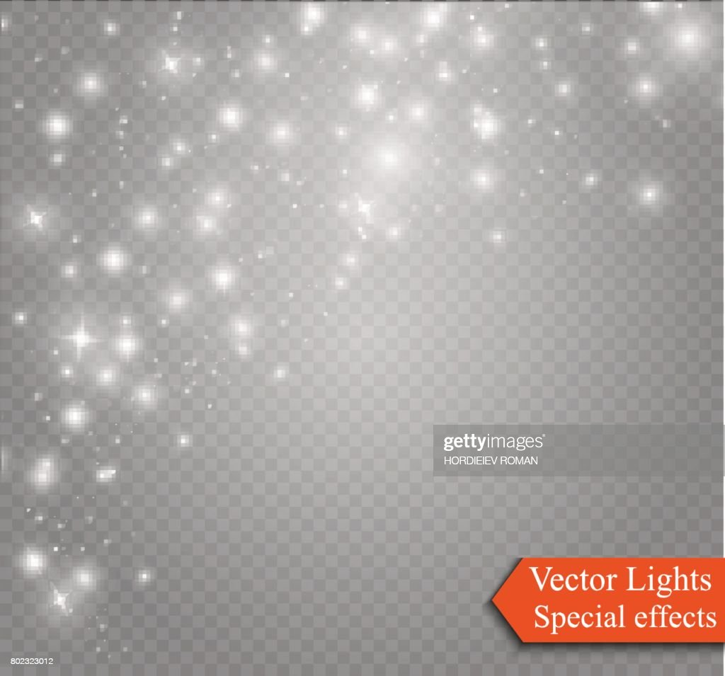 Glow light effect. Vector illustration. Christmas. dust abstract