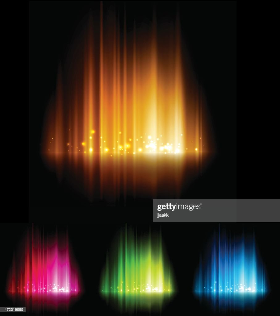 Glowing abstract light in different colors