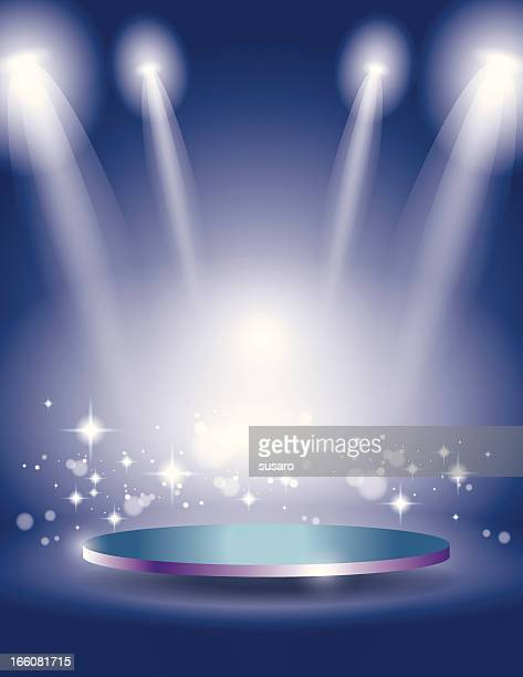 Glowing Blue Sparkle Stage Display