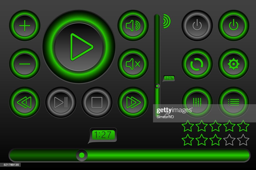 Glowing Button Set for Player