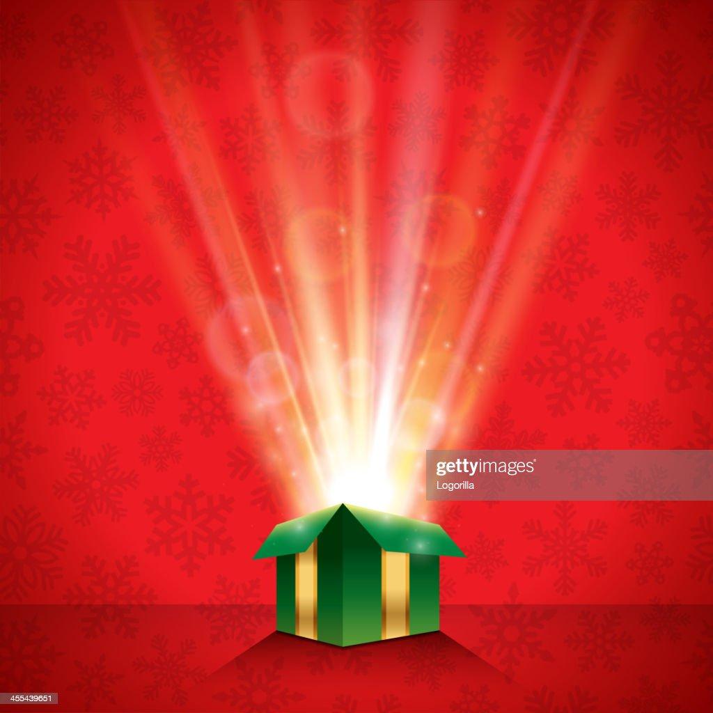 Glowing Christmas Gift Background