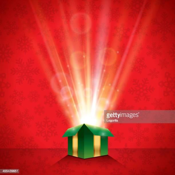 ilustraciones, imágenes clip art, dibujos animados e iconos de stock de fondo de regalos de navidad brillante - cajaderegalo