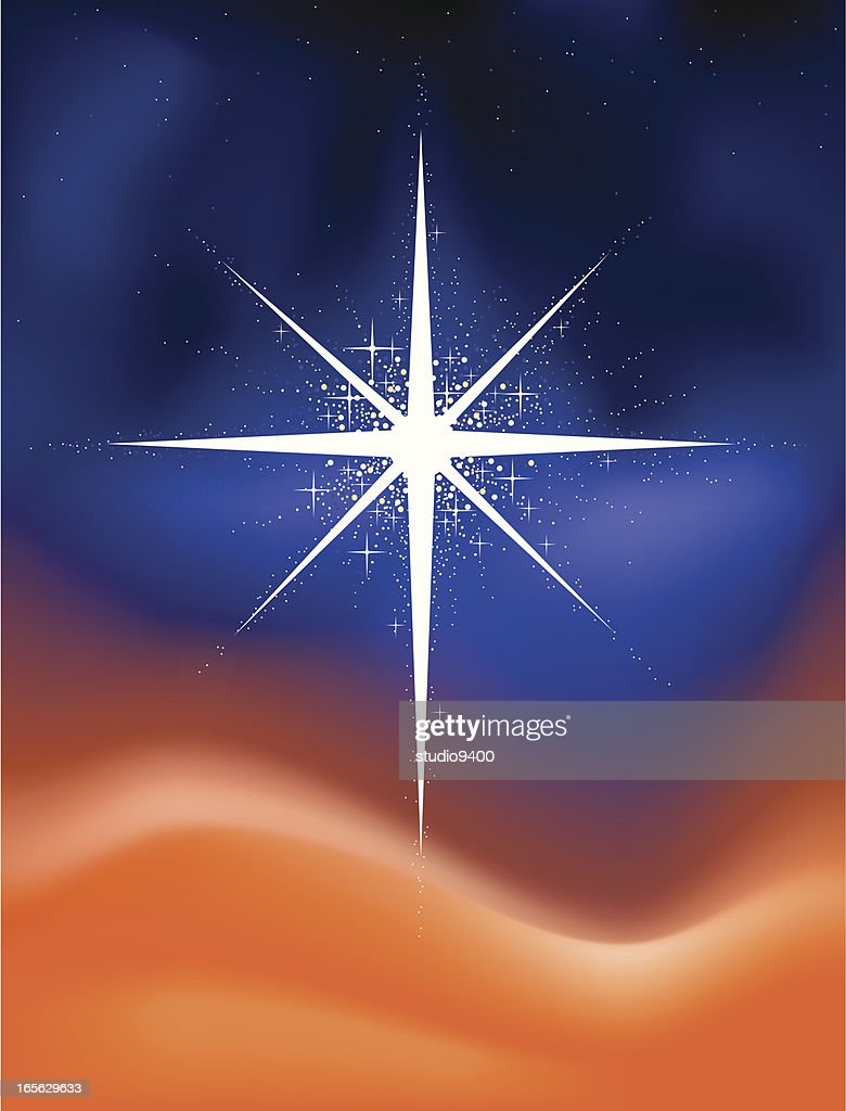 Glowing Christmas Star Vector Art | Getty Images