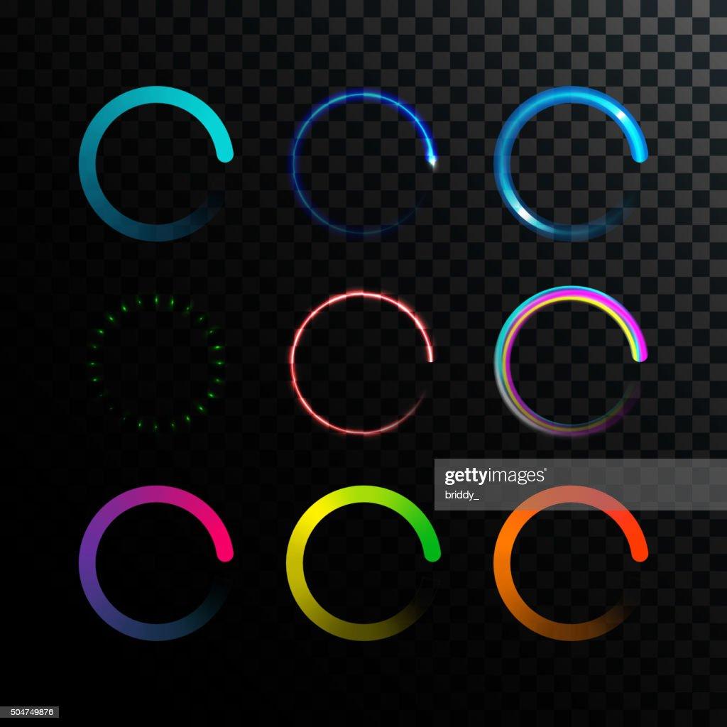 Glowing Colorful Loaders Set