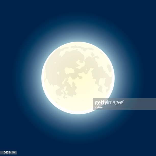 ilustraciones, imágenes clip art, dibujos animados e iconos de stock de moon - luna llena