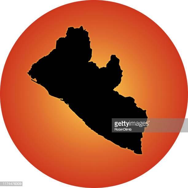 glowing liberia map - liberia stock illustrations, clip art, cartoons, & icons