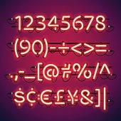 Glowing Neon Bar Numbers