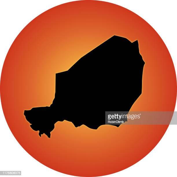 ilustrações, clipart, desenhos animados e ícones de mapa de incandescência de niger - níger