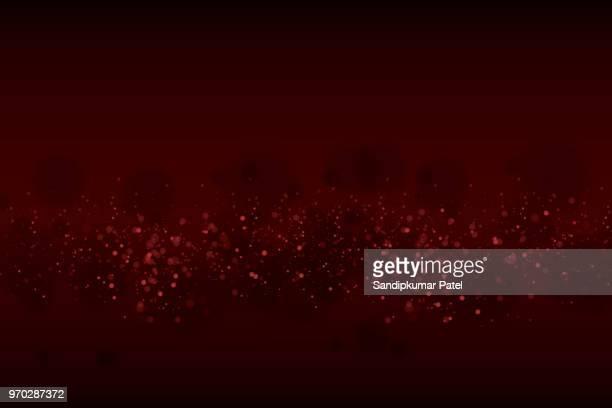 glühende partikel-hintergrund - roter hintergrund stock-grafiken, -clipart, -cartoons und -symbole