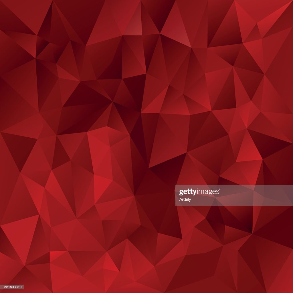 glowing red polygonal triangular pattern background