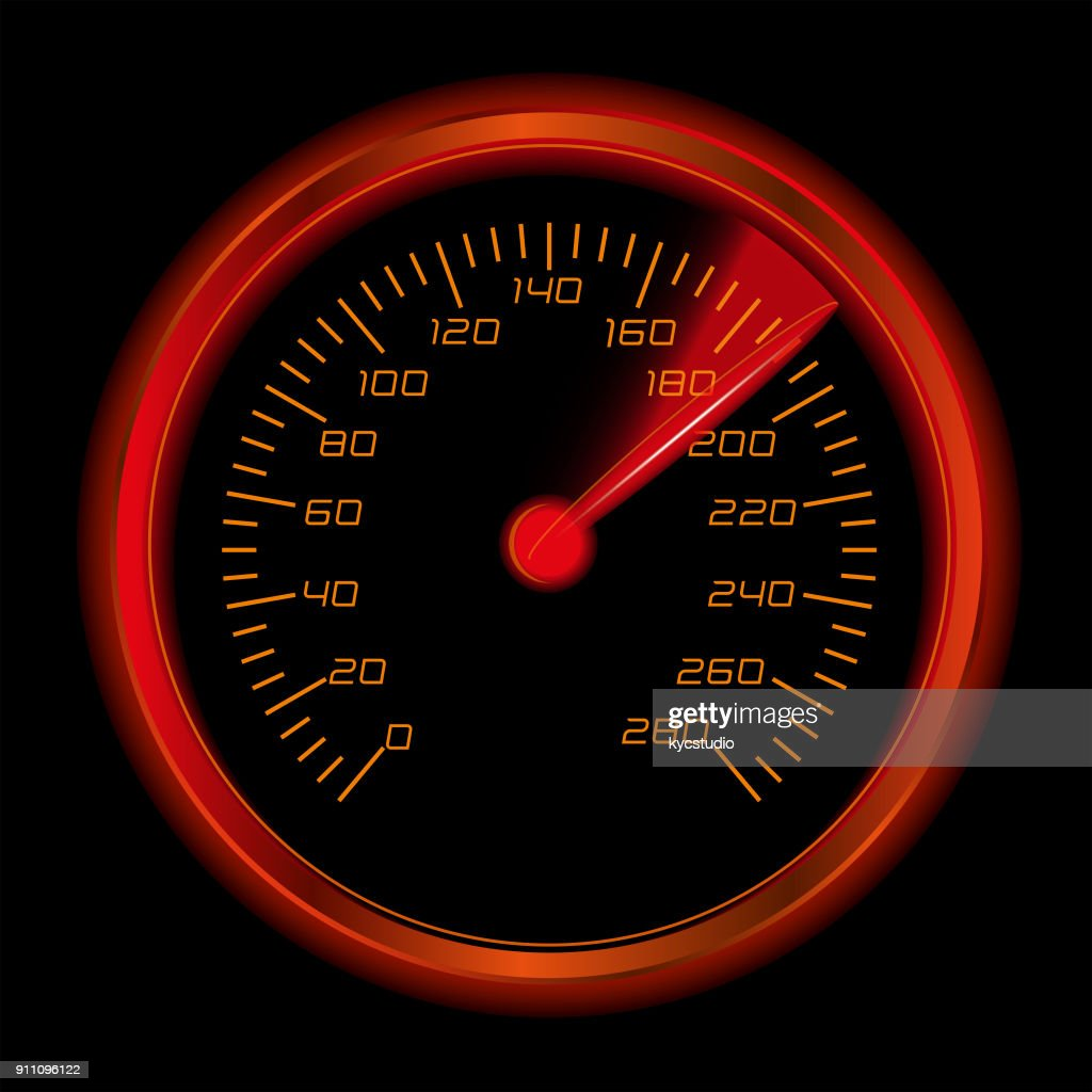 Glowing Speedomenter : Stock Illustration