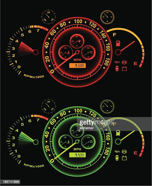 Glowing speedometer