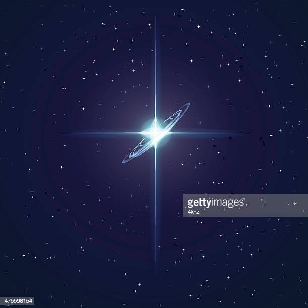 Glowing Star Stock Vector Space Background