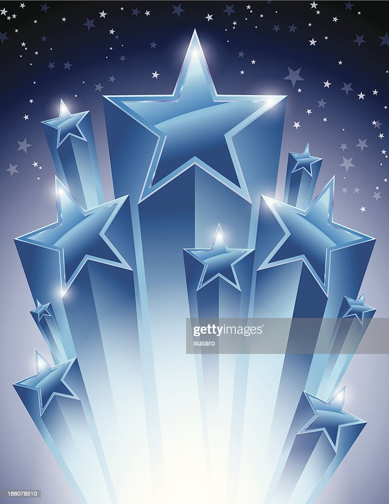 Glowing Stars Burst