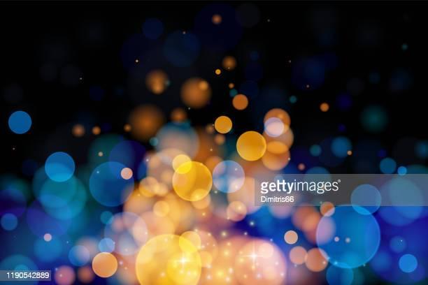 illustrazioni stock, clip art, cartoni animati e icone di tendenza di glowing vector blurred background. - dorato colore descrittivo