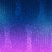 Glowing Waves Of Lines Background.