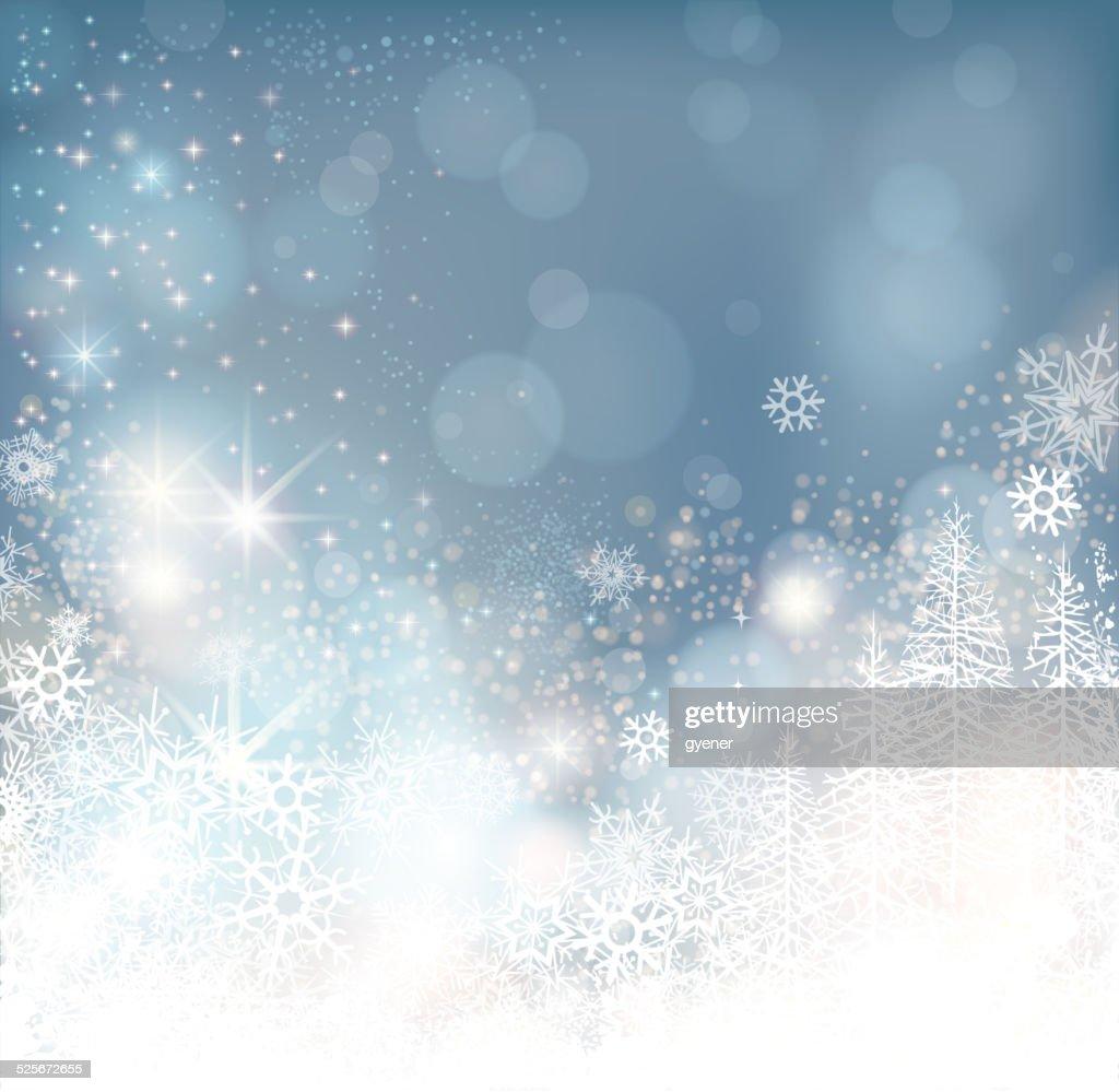 glowing winter background