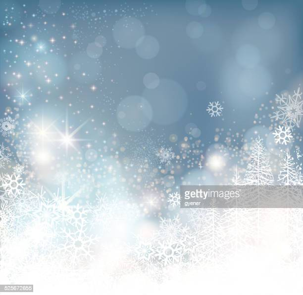 glowing winter background