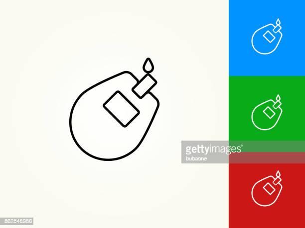 ilustraciones, imágenes clip art, dibujos animados e iconos de stock de icono lineal movimiento negro del monitor de glucosa - diabetes