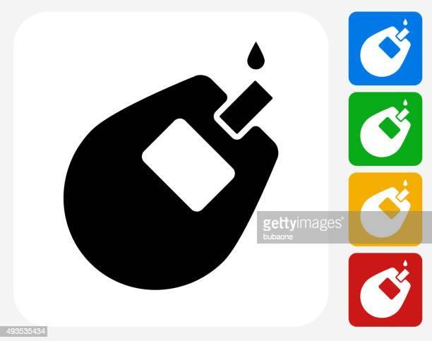 Glucose Monitor Icon Flat Graphic Design