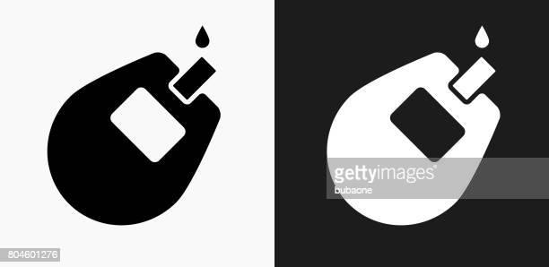 ilustraciones, imágenes clip art, dibujos animados e iconos de stock de icono del monitor de glucosa en blanco y negro vector fondos - diabetes