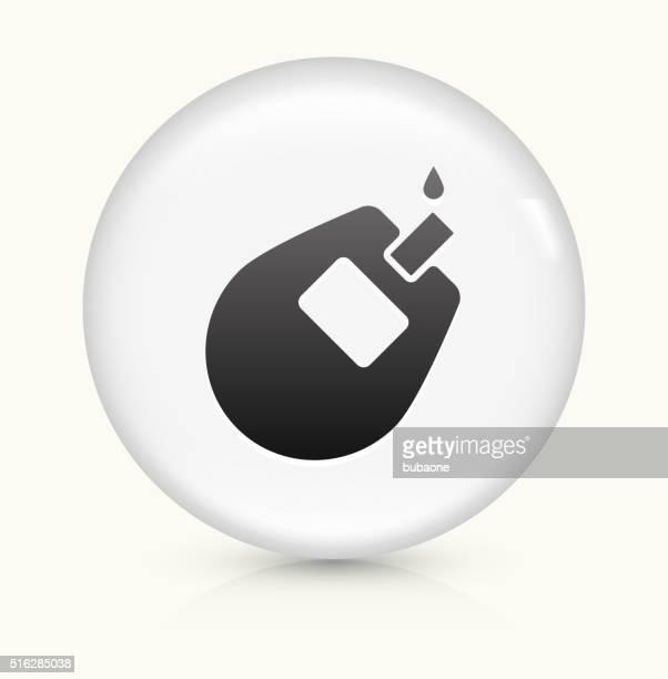 ilustraciones, imágenes clip art, dibujos animados e iconos de stock de monitor de glucosa icono sobre blanco, vector de redondo botón - diabetes