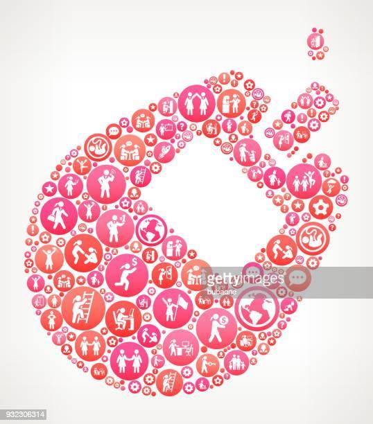 ilustraciones, imágenes clip art, dibujos animados e iconos de stock de glucosa monitor mujeres chica poder iconos vector fondo - diabetes