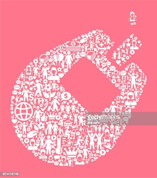 ilustraciones, imágenes clip art, dibujos animados e iconos de stock de de derechos de la mujer del monitor de glucosa y, icono patrón - diabetes