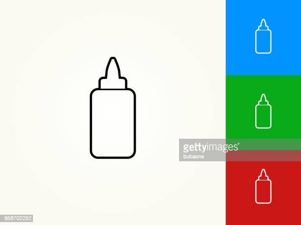 Glue Bottle Black Stroke Linear Icon