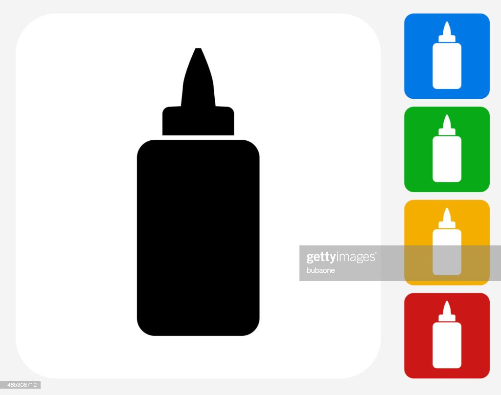 Glue Bottle Icon Flat Graphic Design