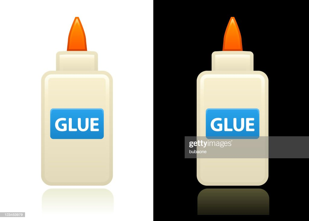 glue design on black and white Backgrounds