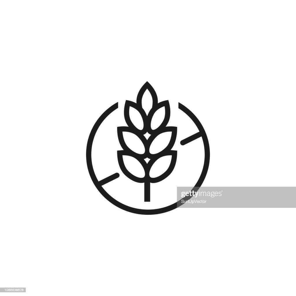 Gluten free line icon