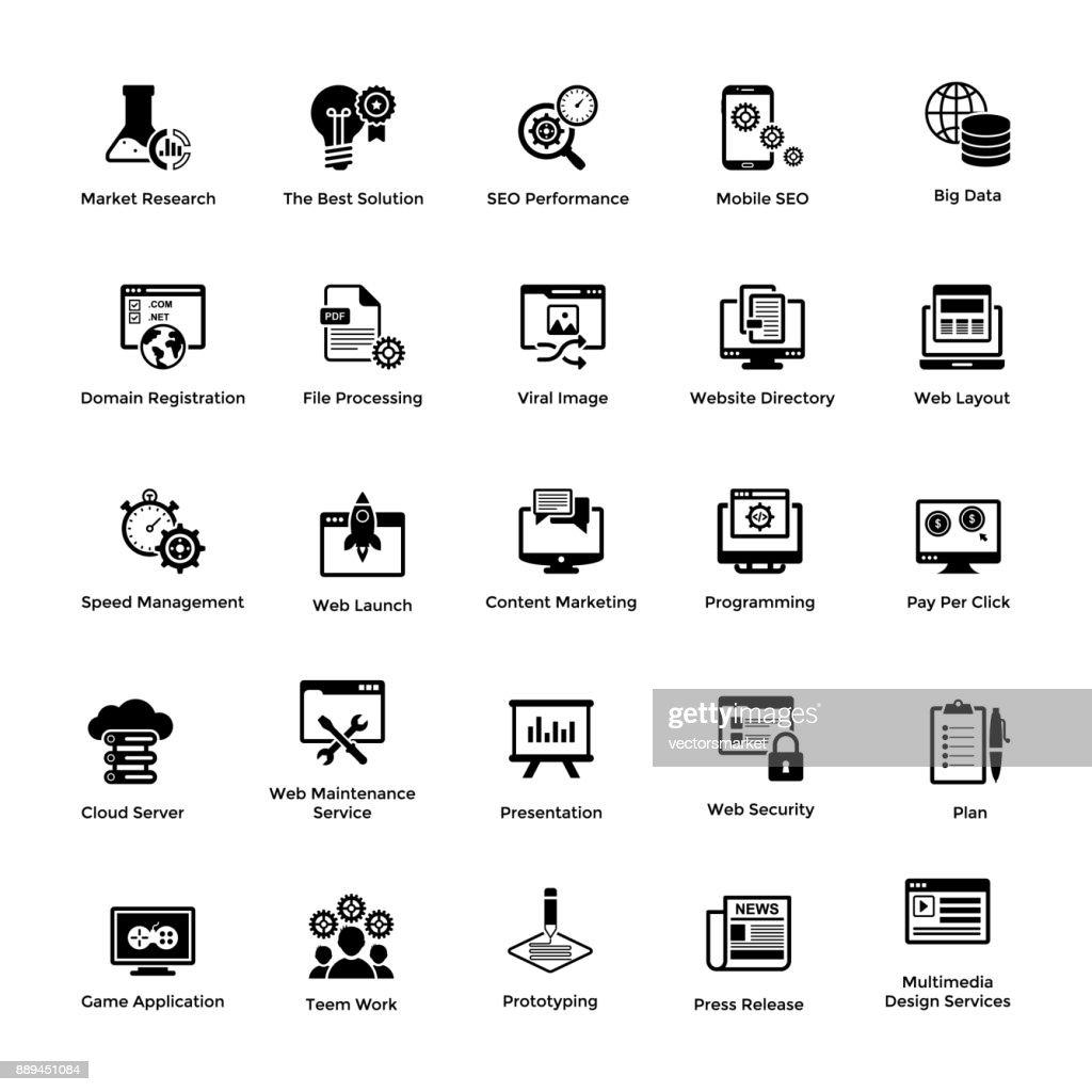 Glyph Icon Design Set Web and Graphic Designing 3